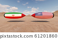 USA and Iran conflict concept. 3d rendering 61201860