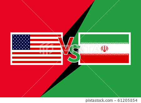 Trade war concept with The USA and Iran country 61205854
