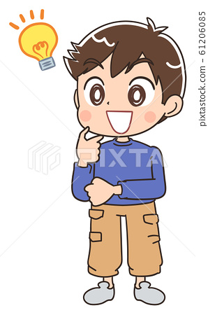 男孩兒童插畫孩子小學學生 61206085