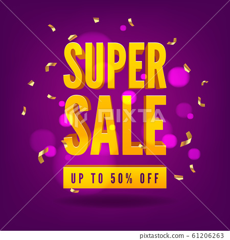Super Sale special offer. End of season special offer banner. 61206263