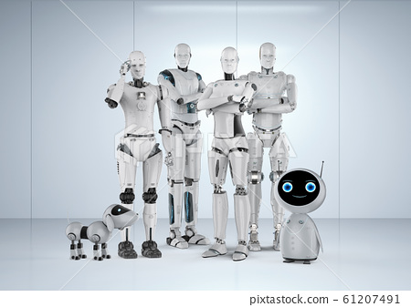 Group of automation robots 61207491