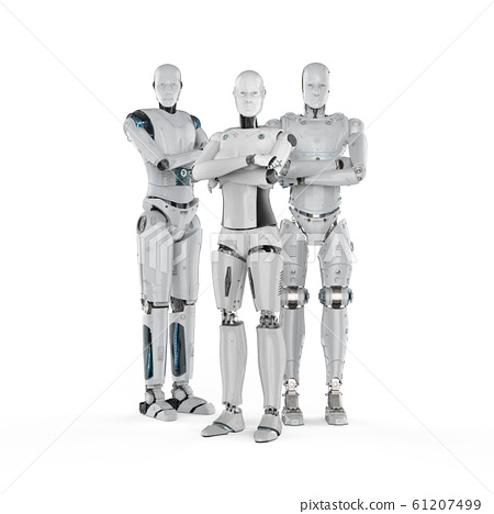 Group of cyborgs 61207499