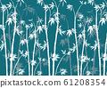 Bamboo: bamboo, bamboo forest, Arashiyama, Kyoto, Japanese paper, Japanese pattern, Japanese style, background, background material, watercolor, Japan 61208354