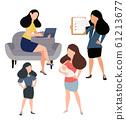 Women doing different Vector set 61213677
