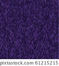 Knit texture melange purple color. Vector seamless 61215215
