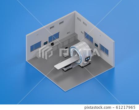 Hospital interior isometric 61217965