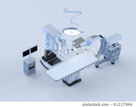 Hospital surgery room isometric 61217966
