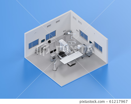 Hospital surgery room isometric 61217967
