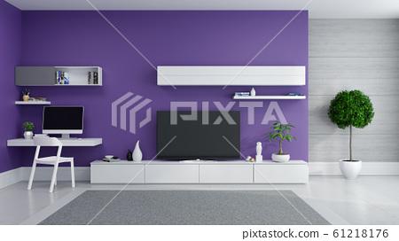 Tv Cabinet Interior Modern Room Design Stock Illustration 61218176 Pixta