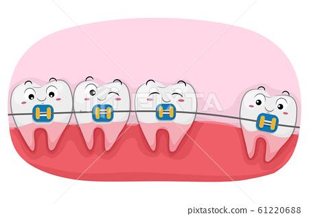 Teeth Mascot Braces Illustration 61220688
