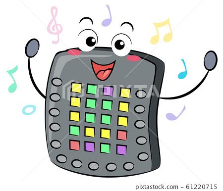Electronic Drum Pad Mascot Illustration 61220715
