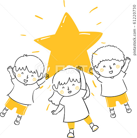 Kids Hold Shining Star Illustration 61220730