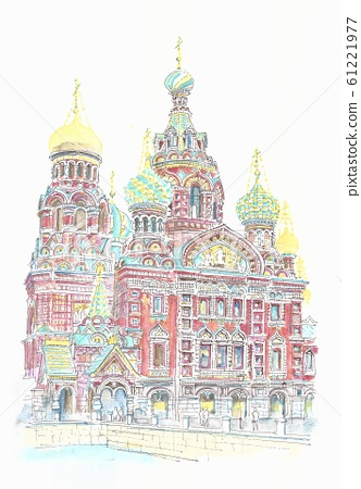 세계 유산의 거리 · 러시아 페테르부르크 · 피의 교회 61221977