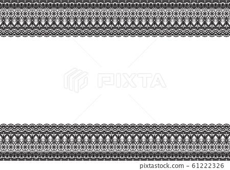 Elegant lacy seamless frame pattern. 61222326