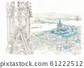 世界遺產的城市景觀,從德國科隆大教堂俯瞰舊城區 61222512