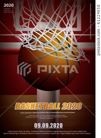 Basketball Poster Advertising Vector Illustration 61224658