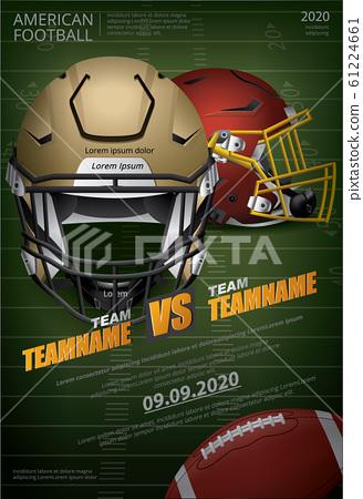 American football Poster Vector Illustration 61224661