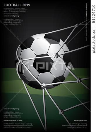 Soccer Football Poster Vestor Illustration 61224710