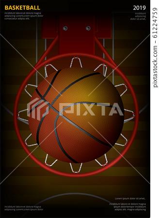 Basketball Poster Advertising Vector Illustration 61224759