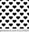 Black heart seamless pattern. Love background. Valentine Day theme. Vector illustration 61224826