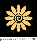 Chamomile. Flower gold Isolated graphic element. 61227705