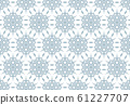 Abstract geometric pattern with lines, snowflakes. 61227707