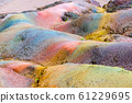 Seven Coloured Earths in Chamarel, Mauritius Island, Indian Ocean 61229695