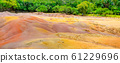 Seven Coloured Earths in Chamarel, Mauritius Island, Indian Ocean 61229696