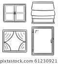vector set of window 61230921