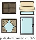 vector set of window 61230922
