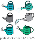 vector set of watering can 61230925