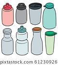 vector set of water bottle 61230926
