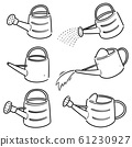 vector set of watering can 61230927