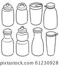 vector set of water bottle 61230928