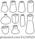 vector set of vase 61230929