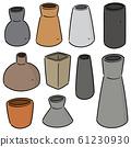 vector set of vase 61230930
