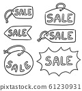 vector set of sale tag 61230931