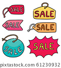 vector set of sale tag 61230932