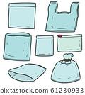 vector set of plastic bag 61230933