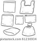 vector set of plastic bag 61230934