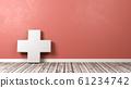 Medical Cross Against Wall 61234742
