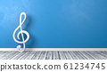 Musical Clef on Floor with Copyspace 61234745