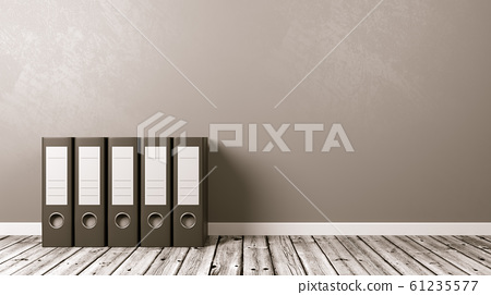 Binders on Wooden Floor, Archives Concept 61235577