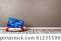 Bank Card on a Lifebuoy in the Room 61235599