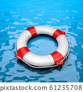 Lifebuoy in the Sea 61235708