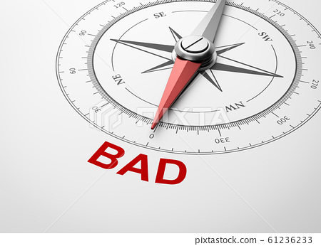 Compass on White Background, Bad Concept 61236233