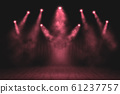 Red Light show on the stage. lighting devises. 61237757