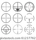 Set of target icons sight sniper symbo. crosshair 61237762
