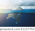 Global warming in the Arctic. Plastic bag iceberg 61237763