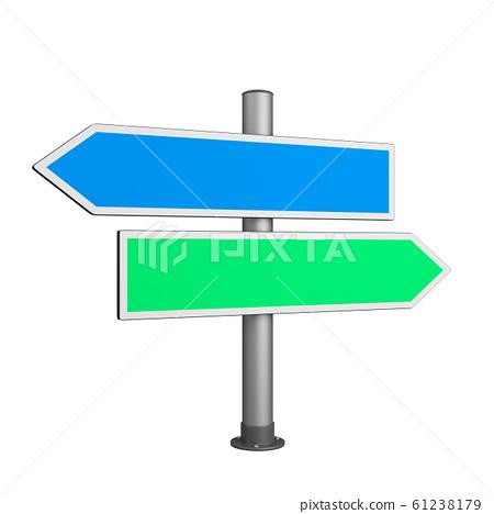 Fork Arrows Road Sign 61238179
